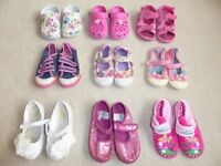 Summer shoes - 10 pairs Size 7 Children's Shoes/ Boots/ Slippers