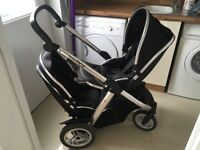 Black Oyster Max Double Pram
