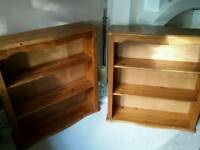X 2 pine shelf units..large and chunky.can split..