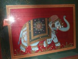 picture of an indian Elephant 21x16