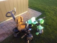 2 childs tricycles