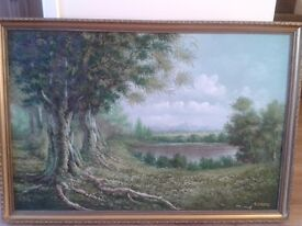 SCENIC PAINTING ON CANVAS - FRAMED