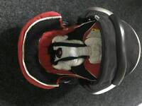 Hauck Baby Car Seat Carrier Red Black Tandem Duo Freerider