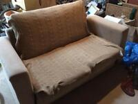 Beige sofa bed used condition only £5