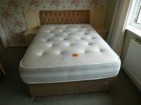 Double divan bed with healthopaedic Pembroke mattress.