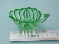 Vintage Green Glass Individual Cream Jug
