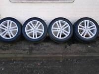 "Genuine refurbished VW Touareg, Q7, Cayenne alloy wheels 19"" with Avon tyres."