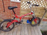 Mejias folding bicycle in excellent condition