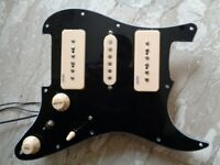 ND-90 HANDMADE LOADED P90/STRAT SC/P90 BLACK NEODYMIUM PICKGUARD WITH COIL TAP TO N&B,