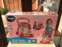 Vtech Baby First Steps Baby Walker Pink BRAND NEW!!