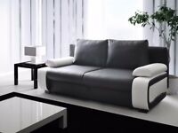 VICTORIO SOFA BED! DIFFERENT COLOURS AND FABRICS AVAILABLE! SOFA BED! STORAGE! DELIVERY AVAILABLE!