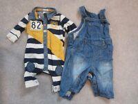 Baby Boy Clothes Bundle 0-3 months - over 50 items!