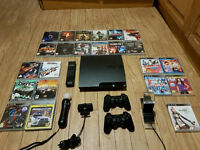 Playstation 3 Slim MEGA BUNDLE - 28 Games and Accessories