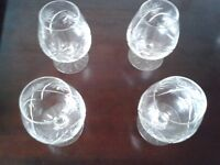 28 Cut glass glasses - incl Wine, Champagne, Brandy, whiskey