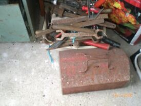 Tools and metal cabinet