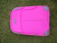 5 Cities pink suitcase holdall cabin luggage