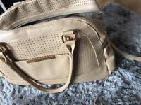 Baby changing bag leather tan bag mayoral