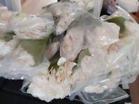 Artificial Hydrangeas x 30 White and Pink