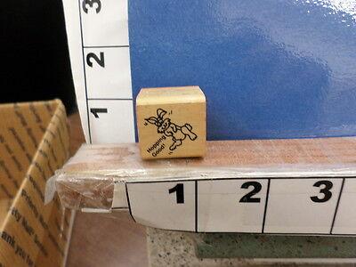easter hopping good rabbit rubber stamp 3x - Easter Goods