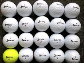 20 Srixon golf balls in excellent condition