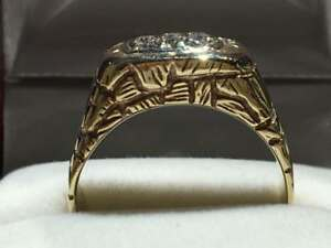 #1446 14K MENS CUSTOM MADE HEAVY RING *SIZE 11* JUST BACK FROM APPRAISAL AT $3250.00 SELLING FOR $1095.00!