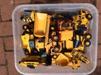 Box of DieCast Construction Toys