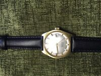 Tissot Gold and steel vintage classic watch 1969, 21 jewels, sea star 516