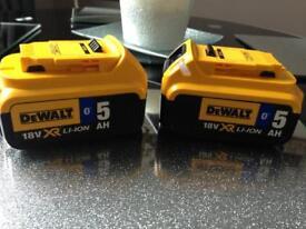Dewalt 5amp Bluetooth batteries brand new