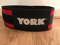 York velcro strapped weight lifting belt, excellent condition
