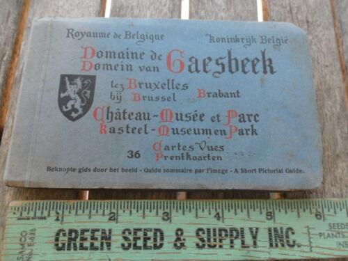 Vintage Souvenir Gasbeek Castle Belgium 36 Postcards in Booklet