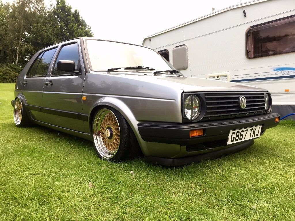 volkswagen mk2 golf 1 3l 1990 air ride bbs wheels in. Black Bedroom Furniture Sets. Home Design Ideas