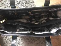 Black and Navy Blue Ted Baker bag