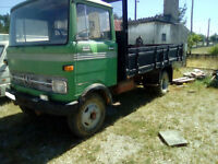 Left hand drive Mercedes Benz 608D 8 Ton tipper. On springs suspension.