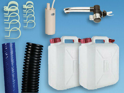 Plumbing Kit for Campervan Sink,Tap & Pump & 10L Water Containers Suit Smev