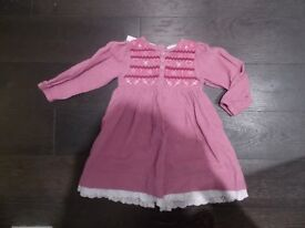 Jojo Maman Bébé dress in pink - Fits 2-3 years - still has labels
