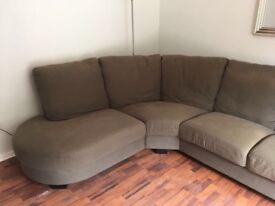 Brown Ikea Corner Sofa for sale