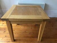 Extending Large Solid Oak Wood Dining Table Very Good Condition South Manchester