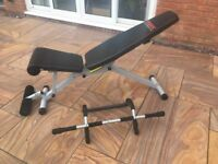 York Fitness 13 in 1 Utility Workout Bench Good Condition With Free Pull Up Bar