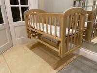 John Lewis wooden rocking babies crib