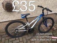 Kids bikes or teen mountain bikes 24 inch wheels teen male female £35 - £50