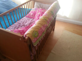 baby cot bed with mattress - 2 levels