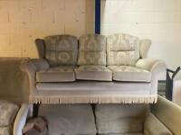 3 Seater fabric sofa & Chair