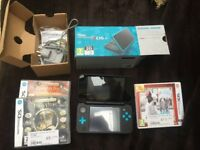 Nintendo 2DS XL in Blue, virtually new with 3 games, great condition in box