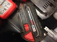 Milwaukee 18volt charger and two batteries
