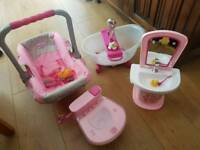 Baby born interactive toy bundle for baby born doll