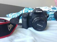 Canon 70d, Body only OR with 55-250mm lens.