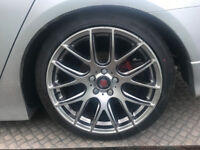 "AXE AS LITE alloys 18"" 5x114 with tyres 8.5j"