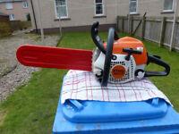 stihl ms 211 petrol chain saw