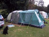 5 man Outwell Tent and 2 Awnings.