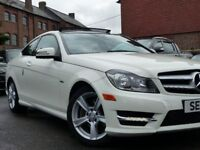 Mercedes Benz C Class Coupe ultra low mileage C250 1800cc Auto LHD AMG Sport rare full